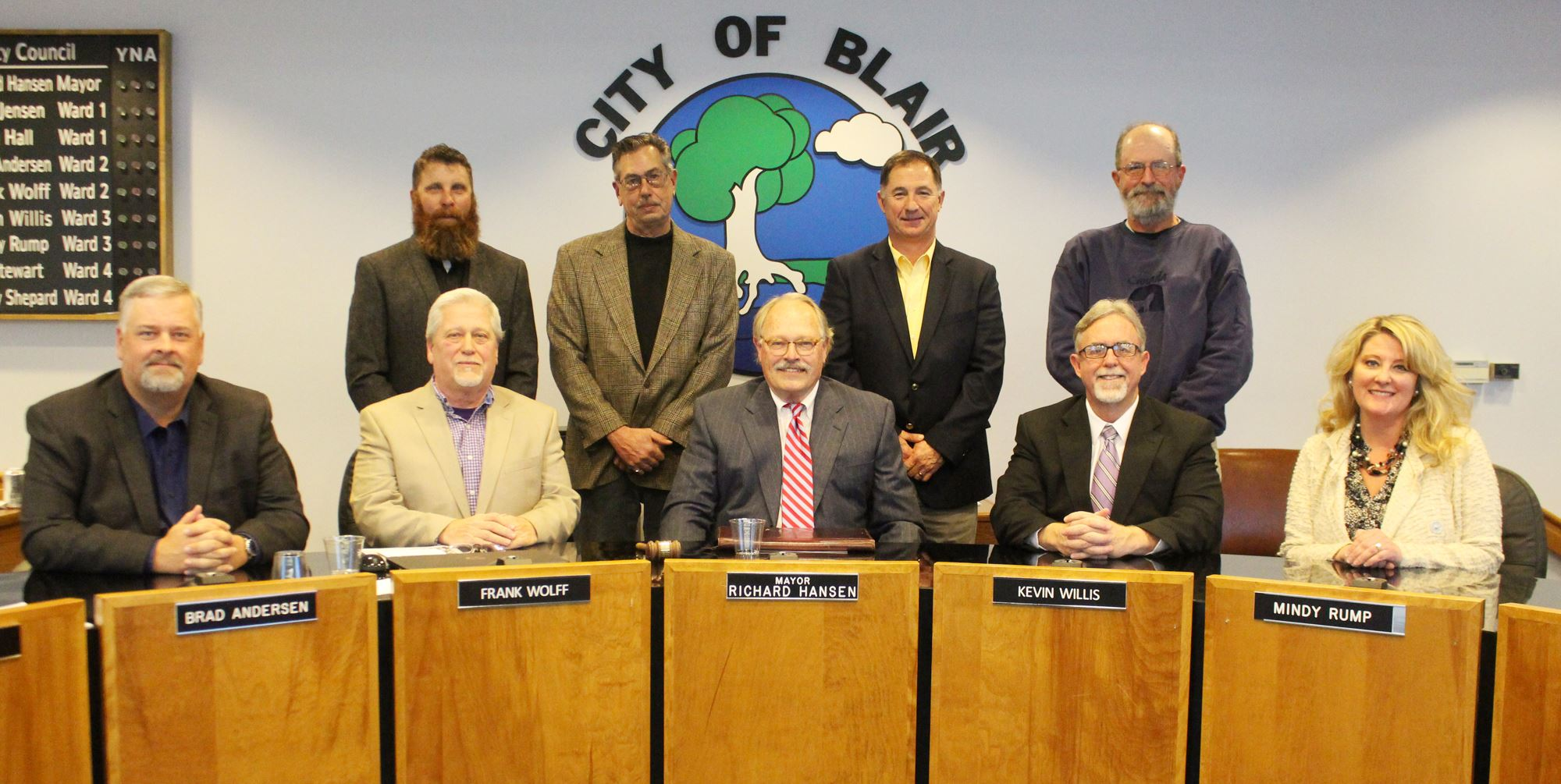 Blair City Council and Mayor